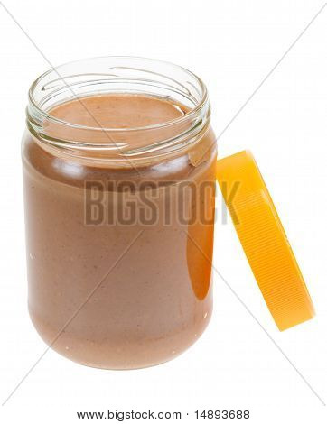 Jar Of Peanut Butter Isolated