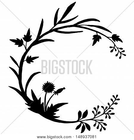 Very high quality original trendy  vector illustration of floral round ornament for design