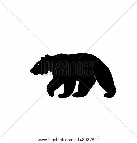 Black Bear Grizzly logo in minimalist style