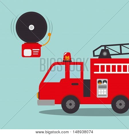 fire truck emergency vehicle rescue service. vector illustration