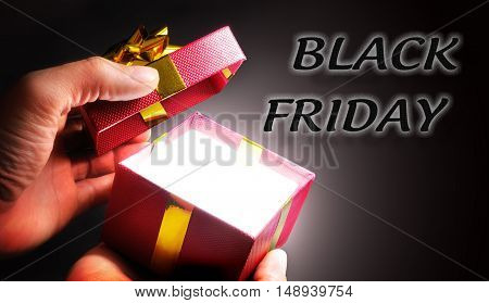 Gift Shopping Concept Black Friday