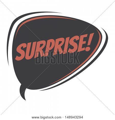 surprise retro speech balloon
