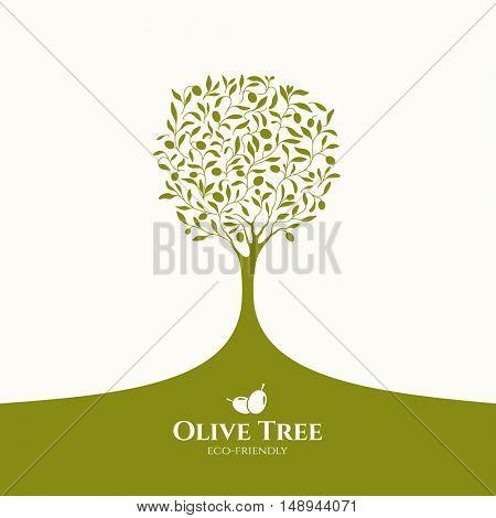 Olive label, logo design.