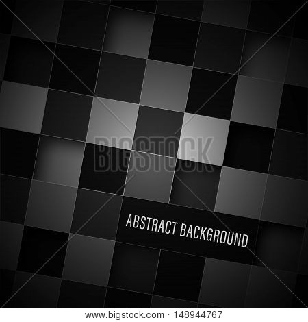 Abstract Dark Square Vector Background.