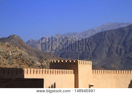 The Fort Nakhl in Sultanate of Oman