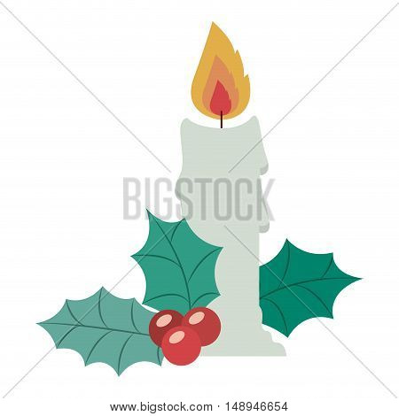 Candle icon. Merry Christmas season and decoration theme. Isolated design. Vector illustration