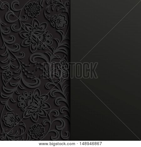 Abstract floral background. EPS 10 vector illustration.