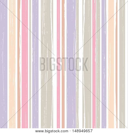 Seamless pattern of vertical brush strokes. Grungy seamless texture. Vector illustration.