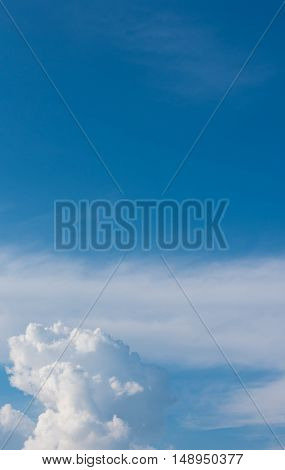 image of blue sky and white clouds on day time for background usage.(vertical)
