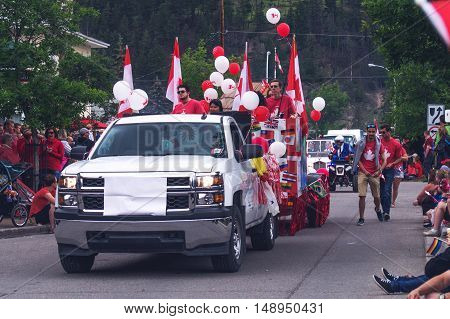 Cars On Parade At Canada Day