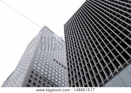 high business skyscraper isolated on a white background and have clipping paths.