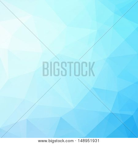 Geometric Pattern, Polygon Triangles Vector Background In Blue Tones. Illustration Pattern