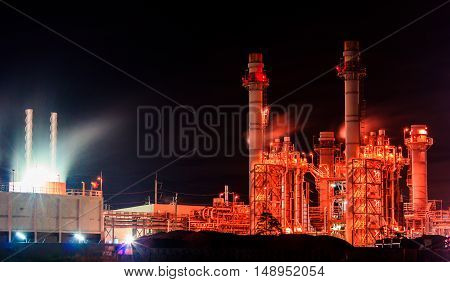 The Power plant.  production at the night.
