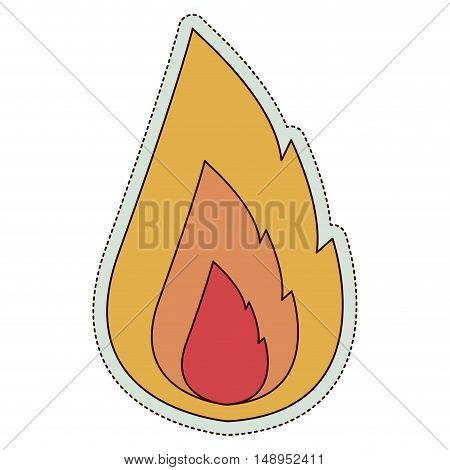 Fire icon.flame candle and light theme. Isolated design. Vector illustration