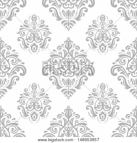 Oriental classic pattern. Seamless abstract background with repeating elements. Light silver pattern