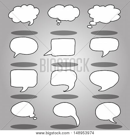 Very high quality original trendy  vector message or chat icon or bubble