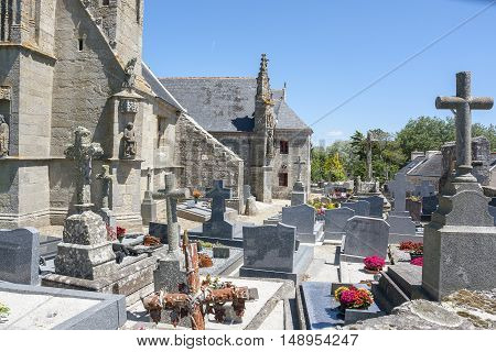 chapel Saint Tugen in Primelin a commune in the Finistere department of Brittany in north-western France.