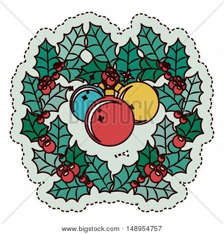 Sphere and crown icon. Merry Christmas season and decoration theme. Isolated design. Vector illustration