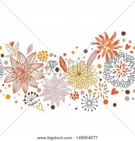 Stylish floral vector on a white background. Vector illustration