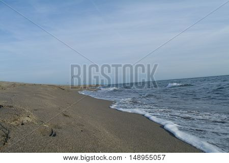 Sea connecting with the beautiful sandy beach