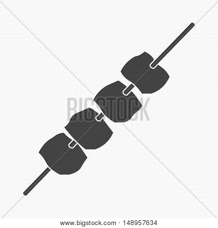 Meat kebab icon of vector illustration for web and mobile design