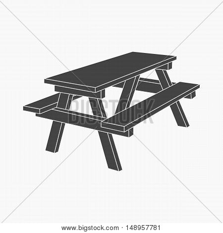 Bench icon of vector illustration for web and mobile design