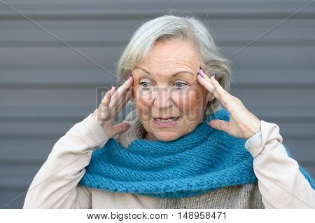 Confused And Bewildered Senior Lady