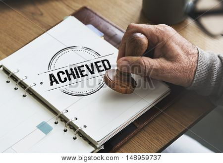 Achieve Goal Motivation Strategy Successful Concept