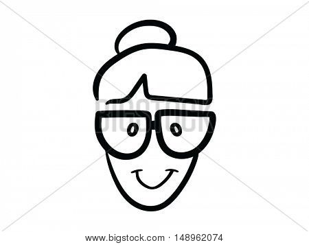 Smiling cartoon face