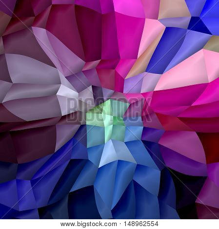 Abstract coloring background of the skyline gradient with visual cubism,pinch,lighting and mosaic effects.Good for your project design