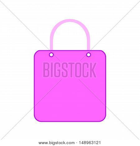 Shopping bag symbol icon on white background. Vector illustration.
