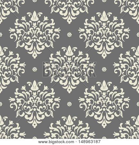 Baroque seamless vector background. Pattern seamless, ornate background, design pattern illustration