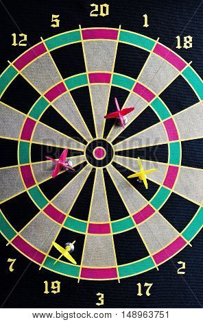 Darts Hit The Target