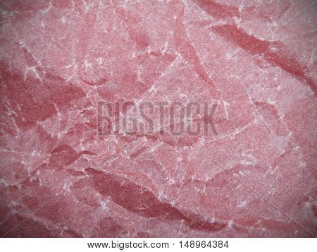 crumpled pink tissue paper texture for background