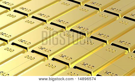 Gold ingots background