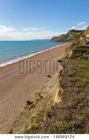 Eype Dorset England uk small village on Jurassic coast south of Bridport and near West Bay