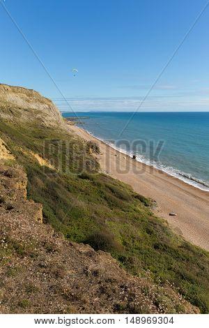 Jurassic coast Eype Dorset England uk south of Bridport and near West Bay