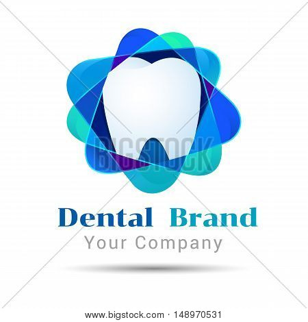 Dental Clean. Vector logo design illustration. Template for your business company. Creative abstract colorful concept.