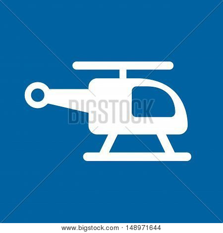 helicopter vehicle isolated icon vector illustration design