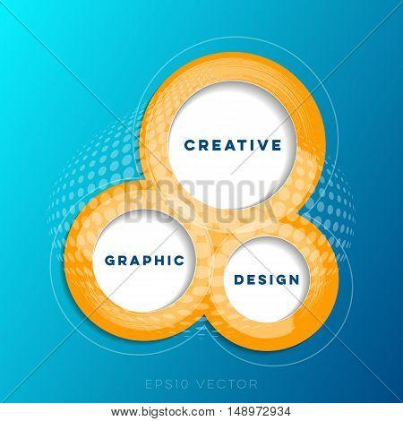 Abstract creative website design template vector illustration