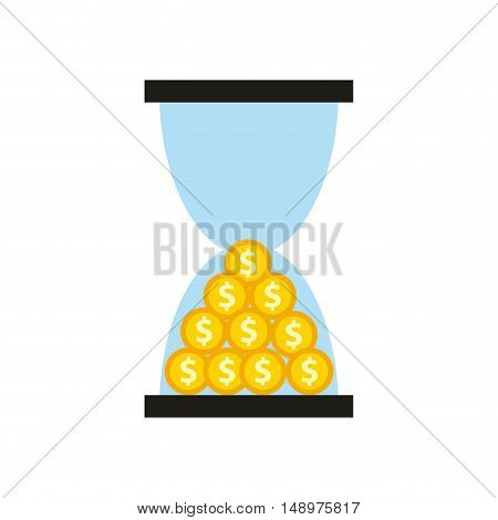 time is money concept icon vector illustration design