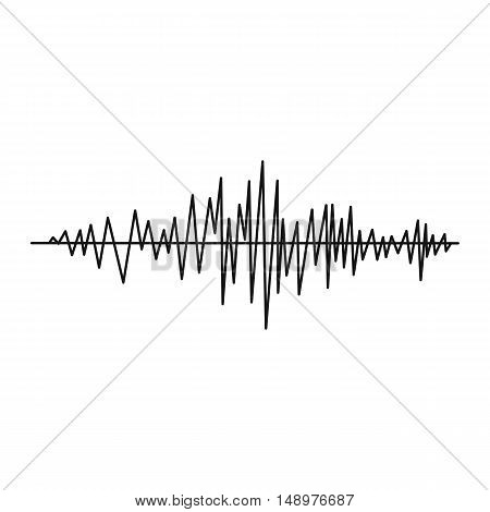 Sound wave icon in simple style on a white background vector illustration