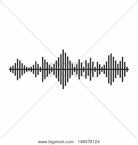 Musical pulse icon in simple style on a white background vector illustration