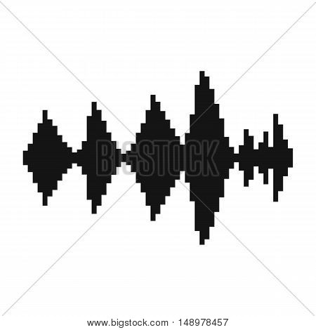 Audio digital equalizer technology icon in simple style on a white background vector illustration