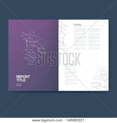 Business report template with infographics elements for company structure presentation and analysis graphs, charts, symbols. Eps10 vector illustration.