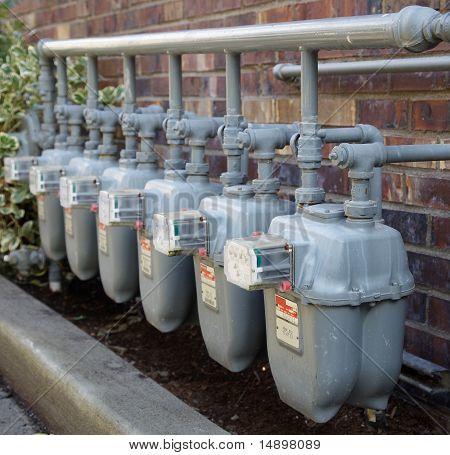 Linha de medidores de gás com Manifolding completo