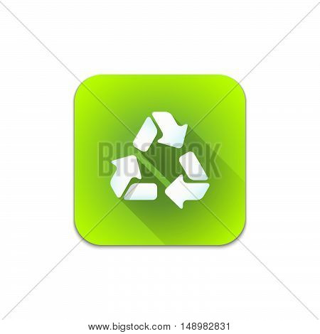 Vector Recycle Waste Sign Icon.