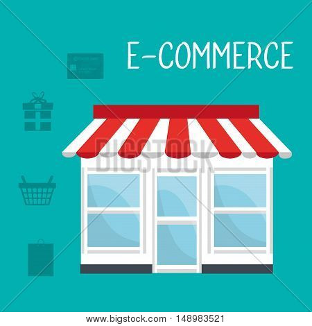 online store icon. shopping and ecommerce theme. vector illustration