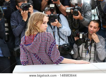 Lily-Rose Depp  at the photocall for The Dancer (La Danseuse) at the 69th Festival de Cannes. May 13, 2016  Cannes, France
