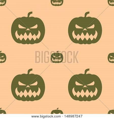 Pumpkin for Halloween. Seamless pattern. Vector illustration
